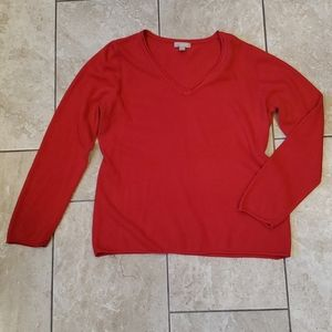 3/$12 V-neck red lightweight sweater